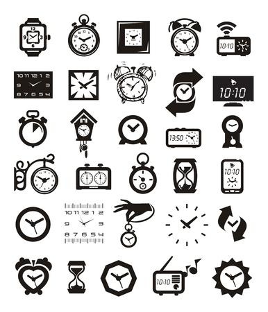 delay: Clock icons set