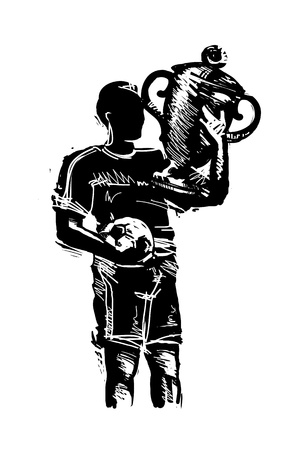 football european championship: Soccer player Illustration