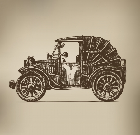 Vintage Car Stock Vector - 21879729
