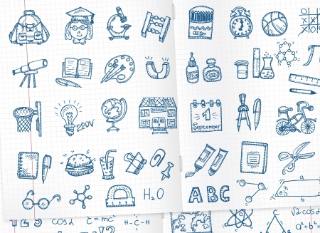 School icons set Stock Vector - 21879732
