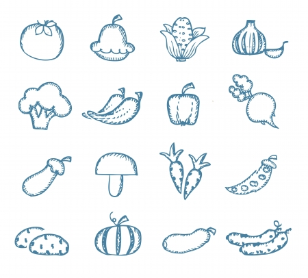 Vitamins icons Vector