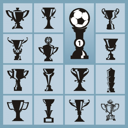 Trophy icons Vector