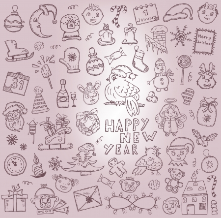 Christmas  Hand-drawn icons Vector