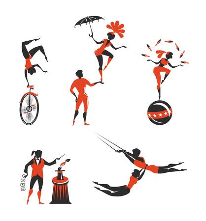 akrobatik: Circus K�nstler Illustration