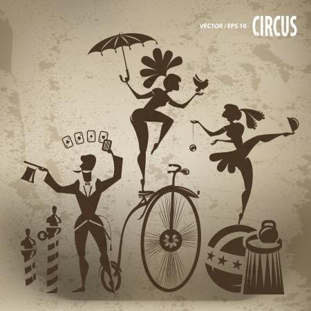 arlecchino: Circo artisti Vettoriali