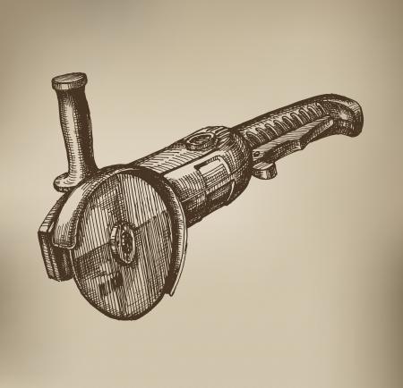 Grinding machine. Vector Format Vector
