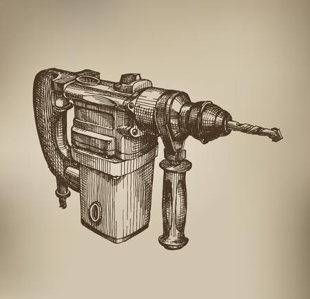 tool chuck: Drill. Vector Format