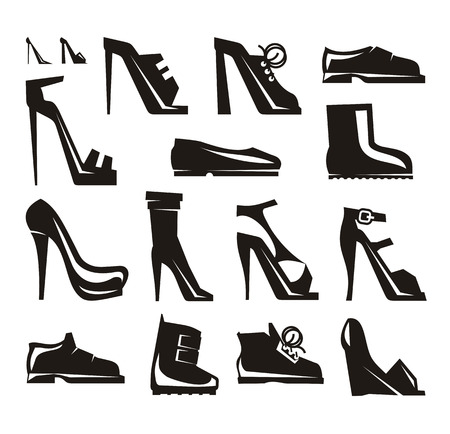 men s boot: Shoes icons Vector Format