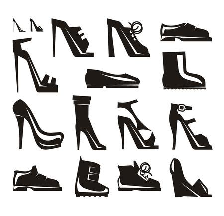 spikes: Zapatos iconos Formato vectorial Vectores