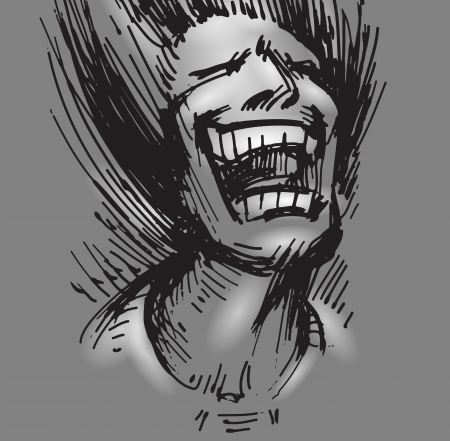 anecdote: Comedian  Vector format Illustration