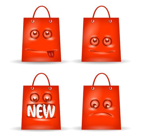 bag cartoon: Funny shopping. Vector format