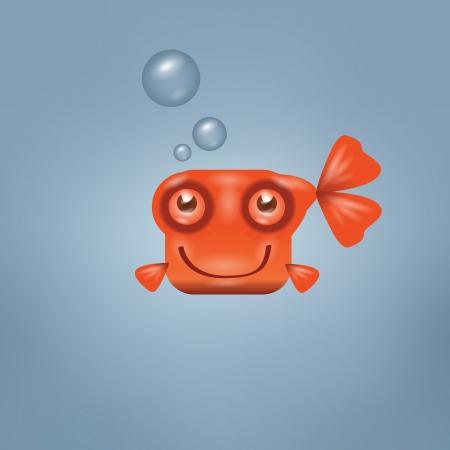 freshwater fish: Goldfish  Vector format