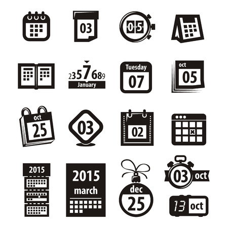 schedules: Iconos del calendario.