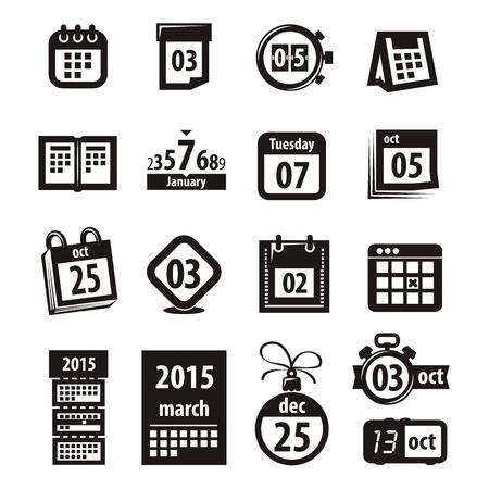 kalendarz: Ikony kalendarzowe. Ilustracja