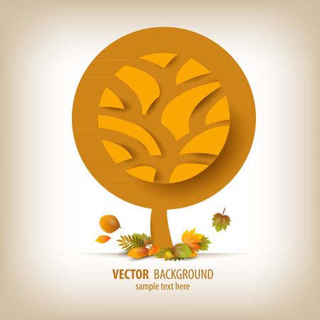 Autumn. Abstract Vector