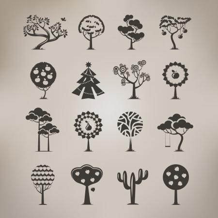 pear tree: Tree symbols  Vector format