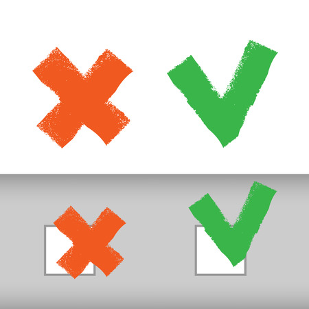 not confirm: Choice icons  Vector format Illustration