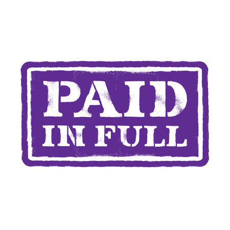 Paid in full Stock Vector - 23042253