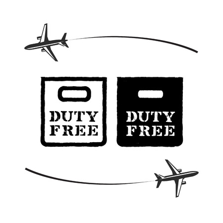 duty: Duty Free. Vector format Illustration