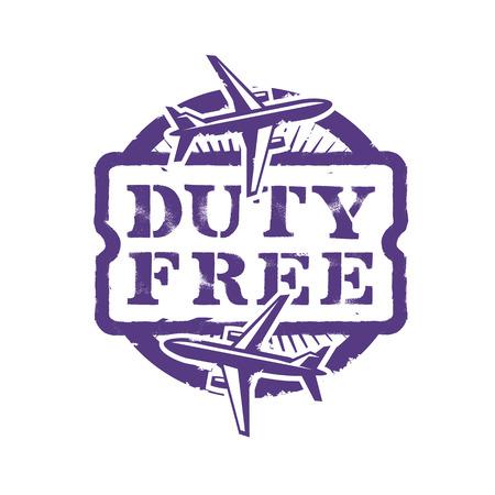 reduced value: Duty Free. Vector format Illustration
