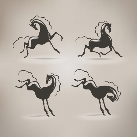 jump up: Horse Vector format