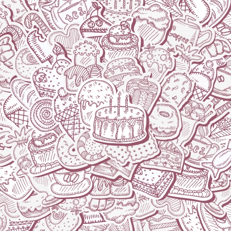 Dessert background Vector