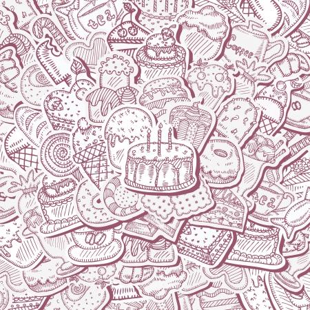 cream pie: Dessert background Illustration