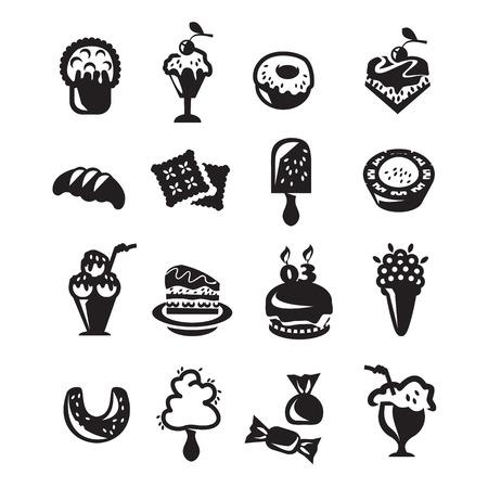 algodon de azucar: Postre conjunto de iconos