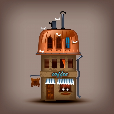 Coffee shop. Vector format Illustration