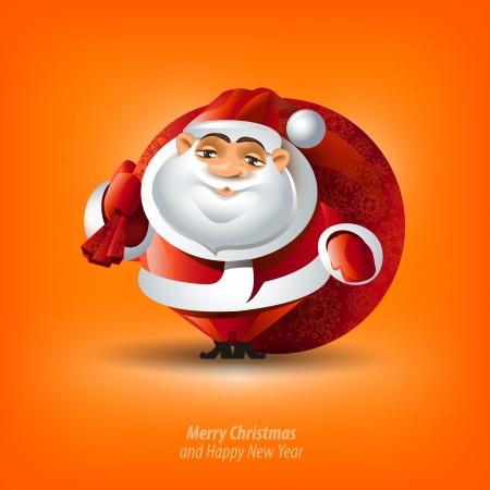 Prettige Kerst en Gelukkig Nieuwjaar Vector Illustratie