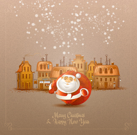 Merry Christmas & Happy New Year. Vector format Vector