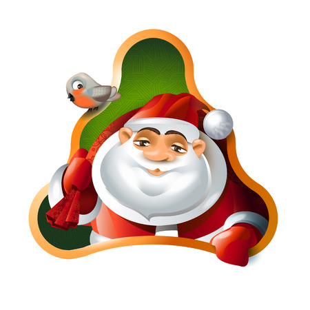 Santa Claus. Merry Christmas and Happy New Year Vector