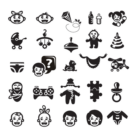 Childhood icons set Stock Vector - 23661758