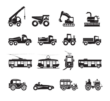 Transportation icons set Stock Vector - 23661760