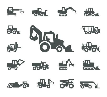 Baumaschinen  Standard-Bild - 23661761