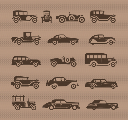 Old cars. Vector format Stock Vector - 23661765