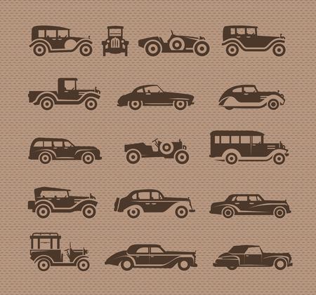 restored: Old cars. Vector format