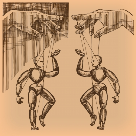 marioneta: Títeres. Formato vectorial