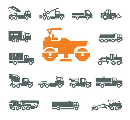 steamroller: Transportation icons. Vector format