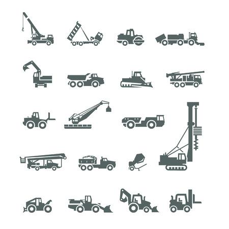 экскаватор: Строительная техника Векторный формат Иллюстрация