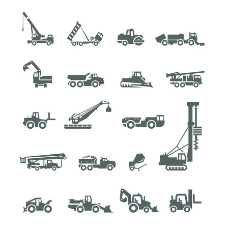 construction crane: Construction machinery  Vector format