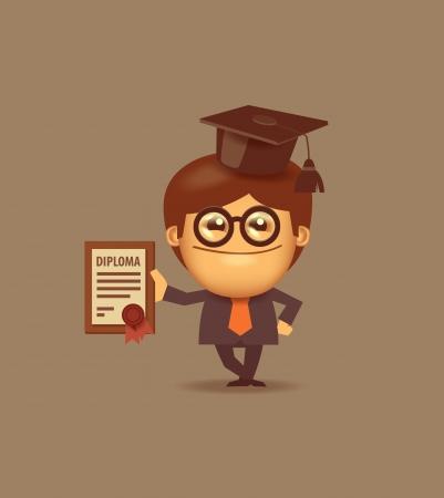 the alumnus: Student. Vector format