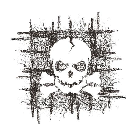 prisoner of war: Skull  Vector format