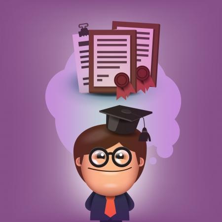 format: Student  Vector format