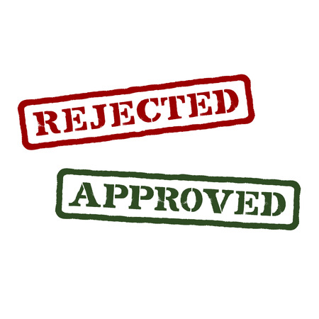 Rejected and approved  Vector format Vector