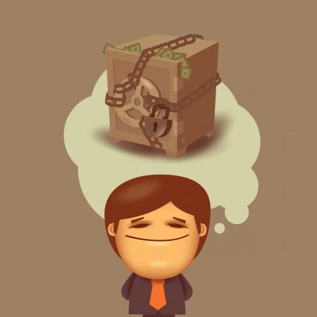 banker: Money Vector format Illustration