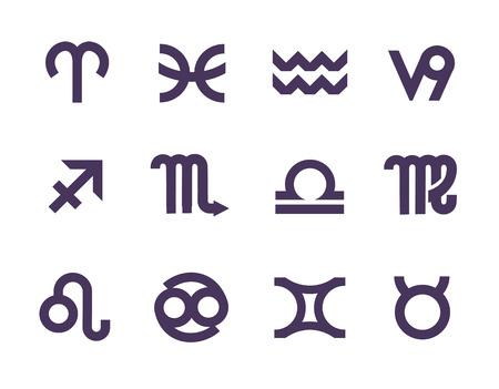 Zodiac symbols  Vector format Vector