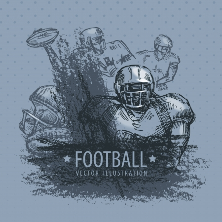 attacker: Football  Vector illustration