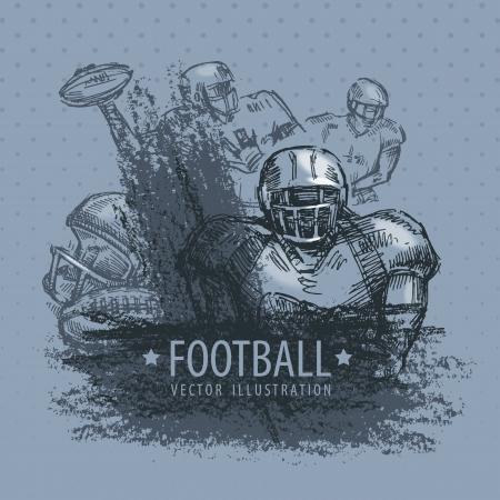 terrain de handball: Football Vector illustration Illustration