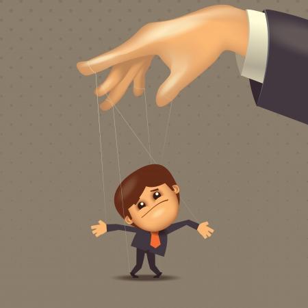 mani legate: Formato Puppet Vector
